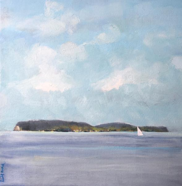 Islands with sailboat