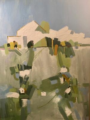"""Country House"" 40"" x30"" acrylic on canvas"